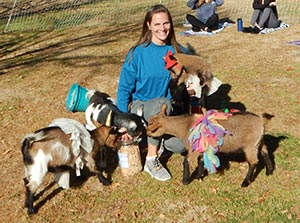 Must Love Animals & Exercise: Comforting Goat Yoga