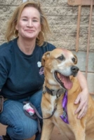 WOOFstock-pic-26---Owner-of-Title-Sponsor-Creature-Comforts-Pet-Resorts,-Beth-O'Neill-with-a-friend-enjoying-the-day